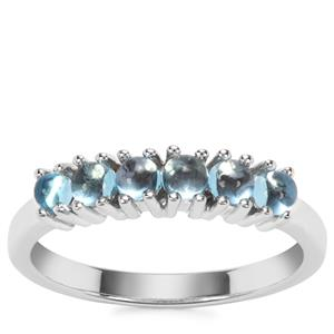Swiss Blue Topaz Ring in Sterling Silver 0.75ct