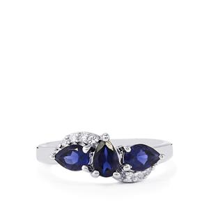 Bengal Iolite & White Topaz Sterling Silver Ring ATGW 1.07cts