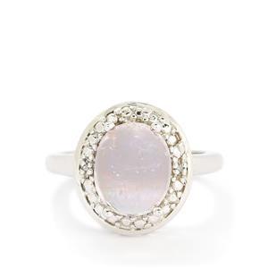 Mawi Kunzite & Diamond Sterling Silver Ring ATGW 6.03cts