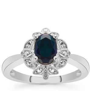 Ethiopian Midnight Opal Ring in Sterling Silver 0.50ct