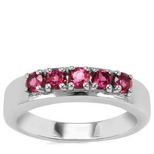 Rhodolite Garnet Ring in Sterling Silver 0.72cts