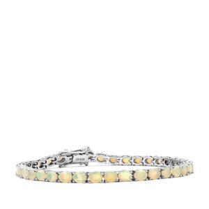 8.02ct Ethiopian Opal Sterling Silver Bracelet