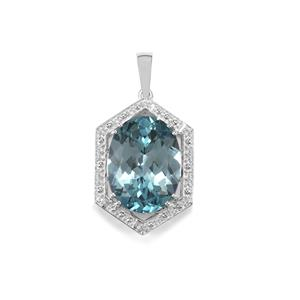 Versailles Topaz Pendant with White Topaz in Sterling Silver 11.12cts