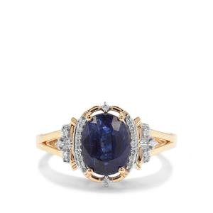Nilamani Ring with Diamond in 18K Gold 2.53cts