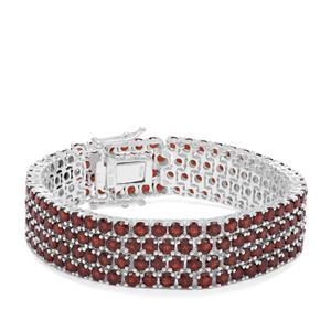 Rajasthan Garnet Bracelet in Sterling Silver 41.80cts