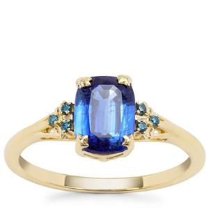 Nilamani Ring with Blue Diamond in 9K Gold 1.86cts