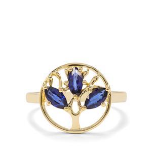 0.78ct Sri Lankan Sapphire 9K Gold Ring