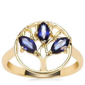 Sri Lankan Sapphire Ring in 9K Gold 0.78ct