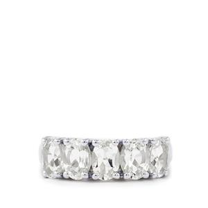White Topaz Ring in Sterling Silver 2.71cts