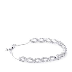 2ct Diamond Sterling Silver Bracelet
