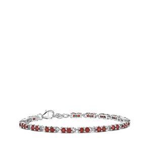 5.80ct Octavian Garnet Sterling Silver Bracelet
