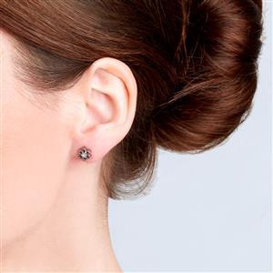White Topaz Earrings in Sterling Silver 0.02ct