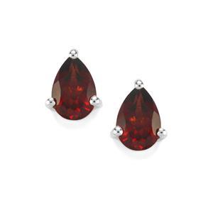 1.06ct Octavian Garnet Sterling Silver Earrings