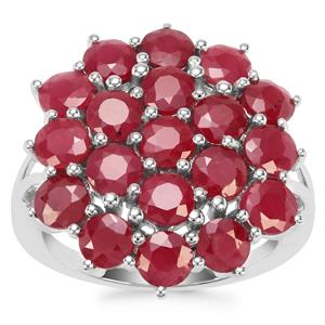 Ruby Ring in Sterling Silver 7.18cts