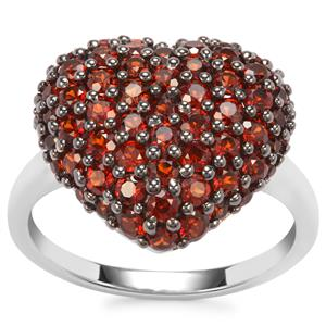 Anthill Garnet Ring in Sterling Silver 2.31cts
