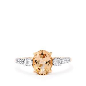 Mutala Morganite & White Zircon 9K Rose Gold Ring ATGW 1.91cts