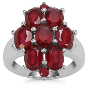 Malagasy Ruby Ring in Sterling Silver 8.37cts (F)