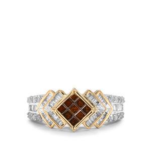1ct Red & White Diamond 10K Gold Tomas Rae Ring