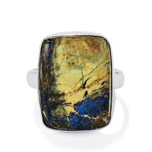 13.11ct Cyber Web Chrysocolla Sterling Silver Aryonna Ring