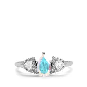 Mercury Mystic Topaz Ring with White Topaz in Sterling Silver 1.24cts