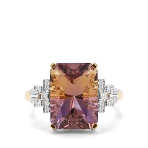 Anahi Ametrine & Diamond 18K Gold Tomas Rae Ring MTGW 6.64cts