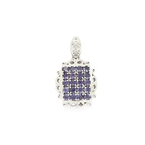 1.83ct Bengal Iolite Sterling Silver Pendant