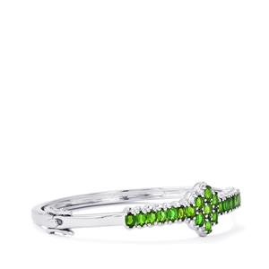 Chrome Diopside Oval Bangle in Sterling Silver 4.98cts
