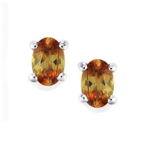 0.88ct Gouveia Andalusite Sterling Silver Earrings