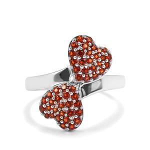 Anthill Garnet Ring in Sterling Silver 0.77cts