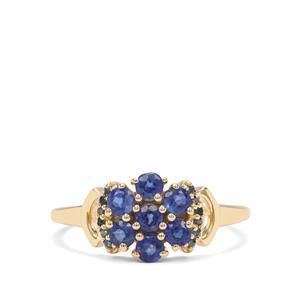 Nilamani & Blue Diamond 9K Gold Ring ATGW 1cts