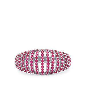 0.81ct Burmese Ruby Sterling Silver Ring