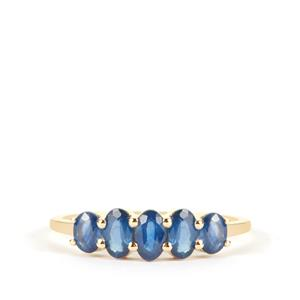 Kanchanaburi Sapphire Ring in 9K Gold 1.46cts