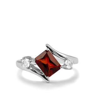 Madeira Citrine Ring with White Topaz in Sterling Silver 1.59cts