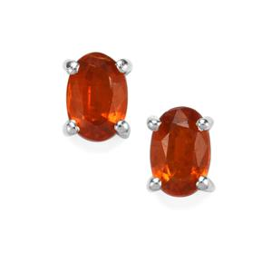 Loliondo Orange Kyanite Earrings in Sterling Silver 1.23cts