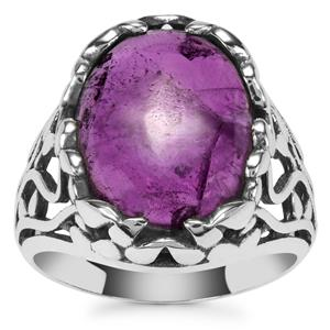 Kenyan Amethyst Ring in Sterling Silver 7.25cts