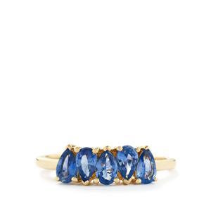 1.09ct Ceylon Sapphire 9K Gold Ring