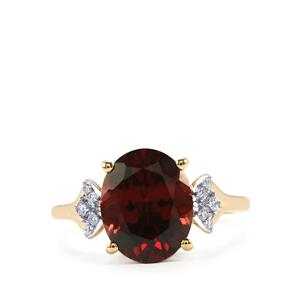 Zanzibar Zircon & Diamond 18K Gold Lorique Ring MTGW 5.21cts
