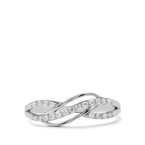 Certified 1/5ct Argyle Diamond 9K White Gold Ring