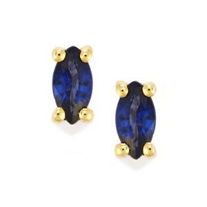 Sri Lankan Sapphire Earrings in 9K Gold 0.55ct