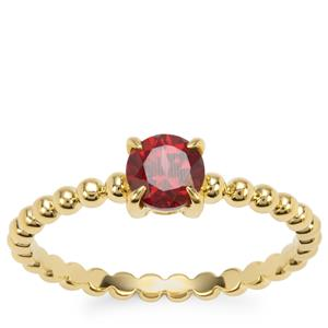 Rajasthan Garnet Orbs of Light Ring in Gold Plated Sterling Silver 0.63ct