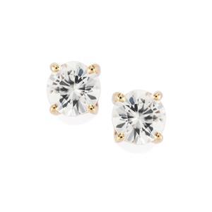 Singida Tanzanian Zircon Earrings in 10k Gold 1.35cts