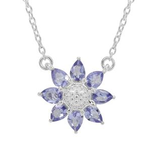 Tanzanite Necklace in Sterling Silver 1.05cts