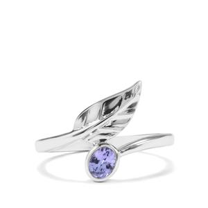 0.30ct AA Tanzanite Sterling Silver Ring