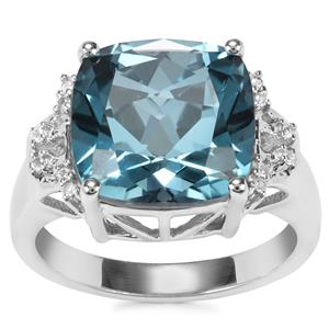 Versailles Topaz Ring with White Topaz in Sterling Silver 8.89cts