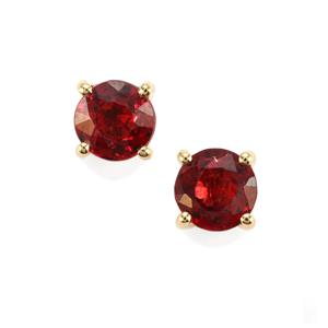 Burmese Red Spinel Earrings in 18k Gold 0.78cts