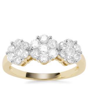 Diamond Ring in 9K Gold 1.05ct