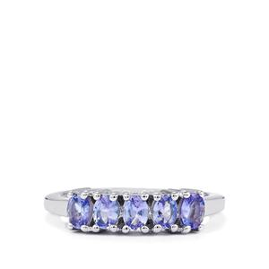 0.82ct Tanzanite Sterling Silver Ring