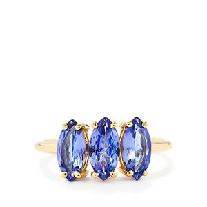 AA Tanzanite Ring  in 10k Gold 2.10cts