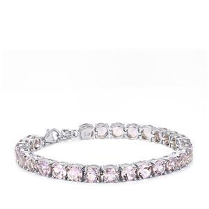 Rose De France Amethyst Bracelet in Sterling Silver 19.15cts