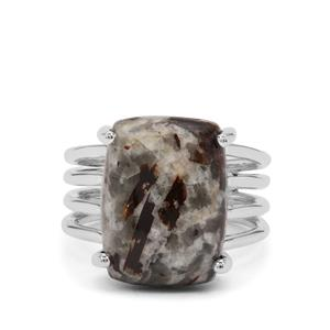 Astrophyllite Ring in Sterling Silver 9cts